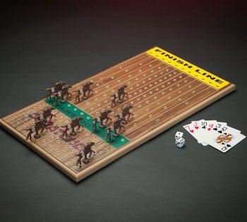 Horseracing Game Walnut Original Horseracing Game In Walnut Veneer